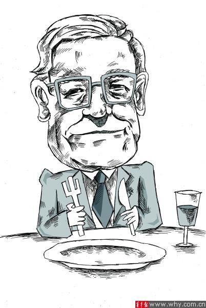 午饭简笔画-并未令 巴菲特午餐 大跳水
