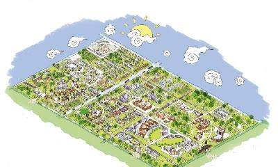 他们帮台儿庄景区制作了手绘地图和相关的创意产品
