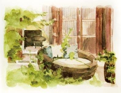 世纪公园马克笔手绘图