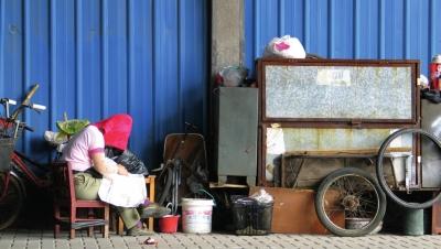过着满屋子杂货与小动物的生活.