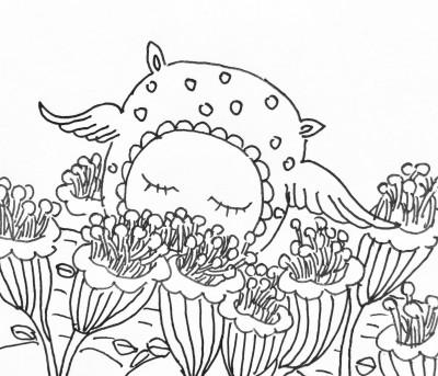 花丛素材简笔画