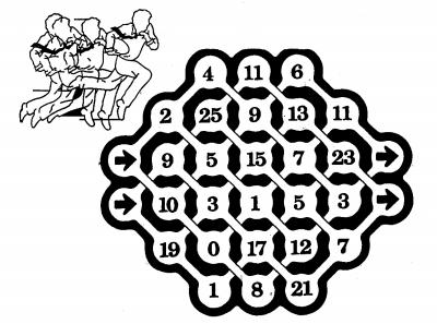 幼儿园数字迷宫图片