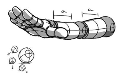 前缩透视 三 将圆柱体的案例运用起来图片