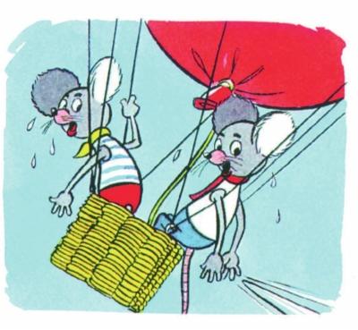 小老鼠卡通形象,两个活泼可爱的小家伙的冒险经历让