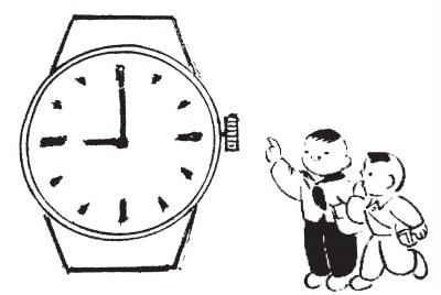整点钟表简笔画图片
